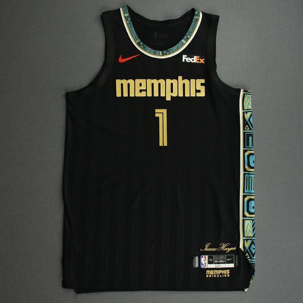 Image of Kyle Anderson - Memphis Grizzlies - Game-Worn City Edition Jersey - 2020-21 NBA Season