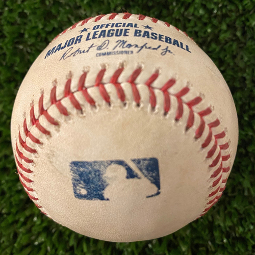 Photo of Albert Pujols Hit Single Baseball - Hit #3,263 - June 6, 2021 - Also Fried Strikeout Pitch to Chris Taylor