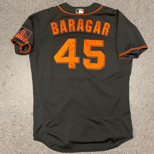 Photo of 2021 Team Issued Home Black Alt Jersey - #45 Caleb Baragar - Size 46