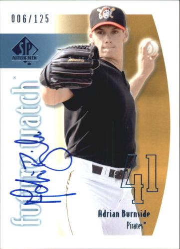 Photo of 2002 SP Authentic Limited #161 Adrian Burnside FW AU