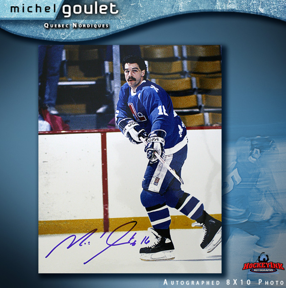 MICHEL GOULET Signed Quebec Nordiques 8 X 10 Photo - 70501