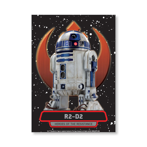 R2-D2 TFA Series 2 HEROES OF THE RESISTANCE Poster - # to 99