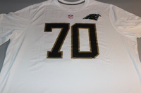 NFL - PANTHERS TRAI TURNER GAME ISSUED 2016 PRO BOWL WHITE T-SHIRT WITH NAME AND NUMBER - SIZE 3XL