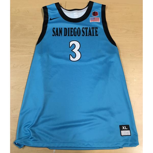Photo of Game-Worn SDSU Nike N7 Native Night Basketball Jersey: Turquoise #03