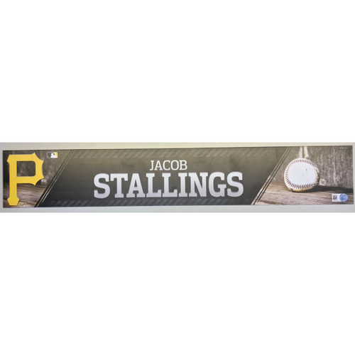 Photo of Jacob Stallings Game-Used Locker Name Plate