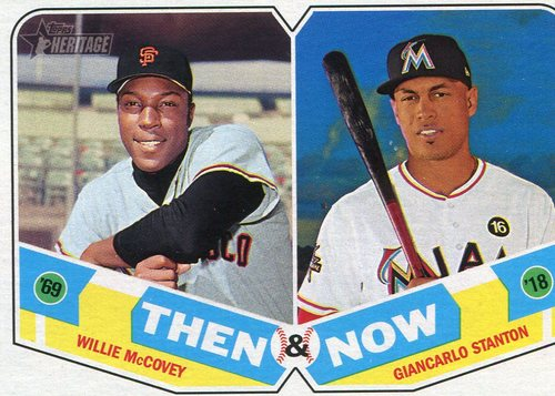 Photo of 2018 Topps Heritage Then and Now #TN6 Giancarlo Stanton/Willie McCovey