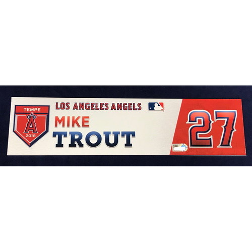 Photo of Mike Trout 2018 Spring Training Locker Tag