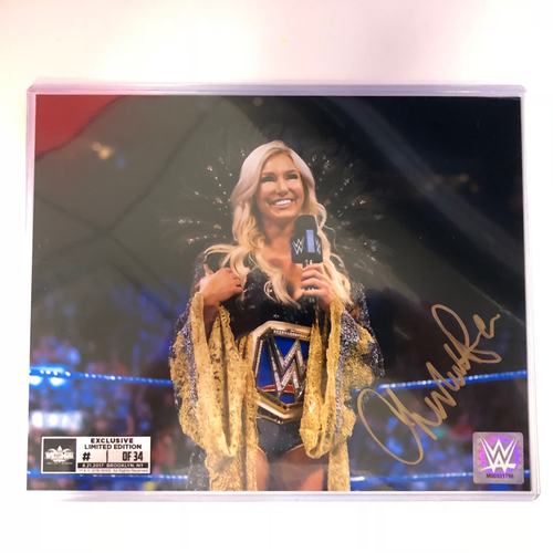 Charlotte Flair SIGNED 8 x 10 Limited Edition WrestleMania Photo (#1 of 34)