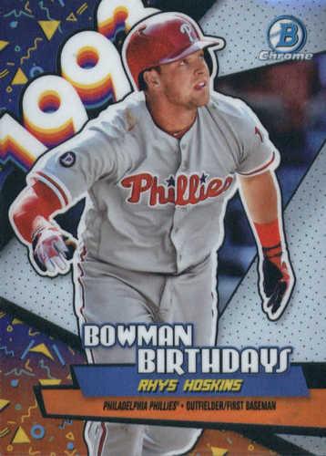 Photo of 2018 Bowman Chrome Bowman Birthdays Refractors #BBRH Rhys Hoskins