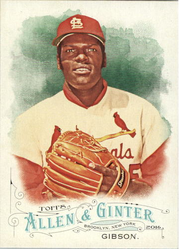 Photo of 2016 Topps Allen and Ginter #206 Bob Gibson