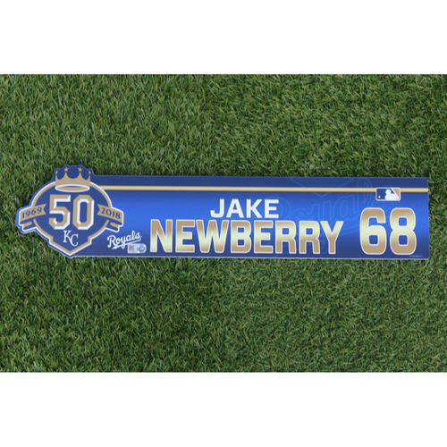 Photo of Game-Used Locker Nameplate: Jake Newberry