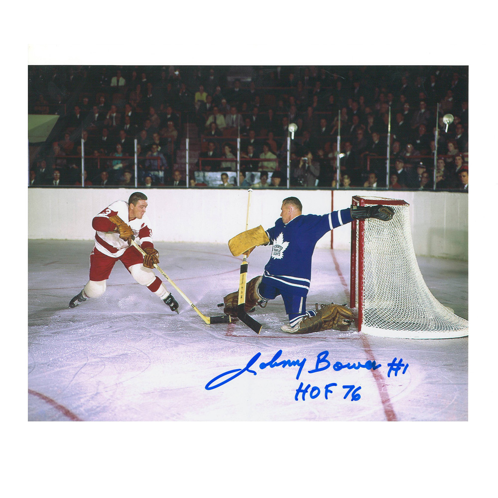 JOHNNY BOWER Signed Toronto Maple Leafs 8 X 10 Photo - 70488