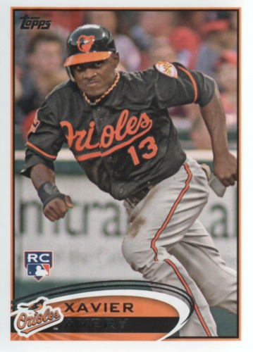 Photo of 2012 Topps Update #US320 Xavier Avery RC