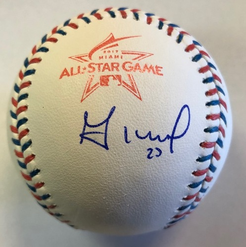 Photo of Jose Altuve Autographed 2017 All-Star Game Logo Baseball