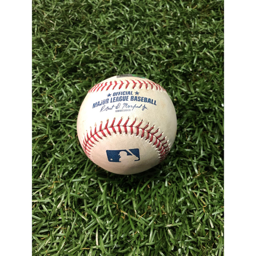 Photo of Game Used Baseball: Yandy Diaz RBI double and Brandon Lowe foul ball off Mike Wright - April 17, 2019 v BAL