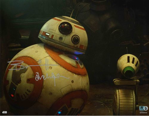 Brian Herring and David Chapman As BB-8 11X14 AUTOGRAPHED IN 'SILVER' INK PHOTO