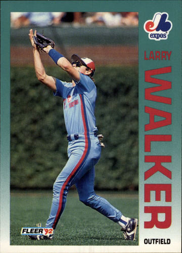 Photo of 1992 Fleer #493 Larry Walker
