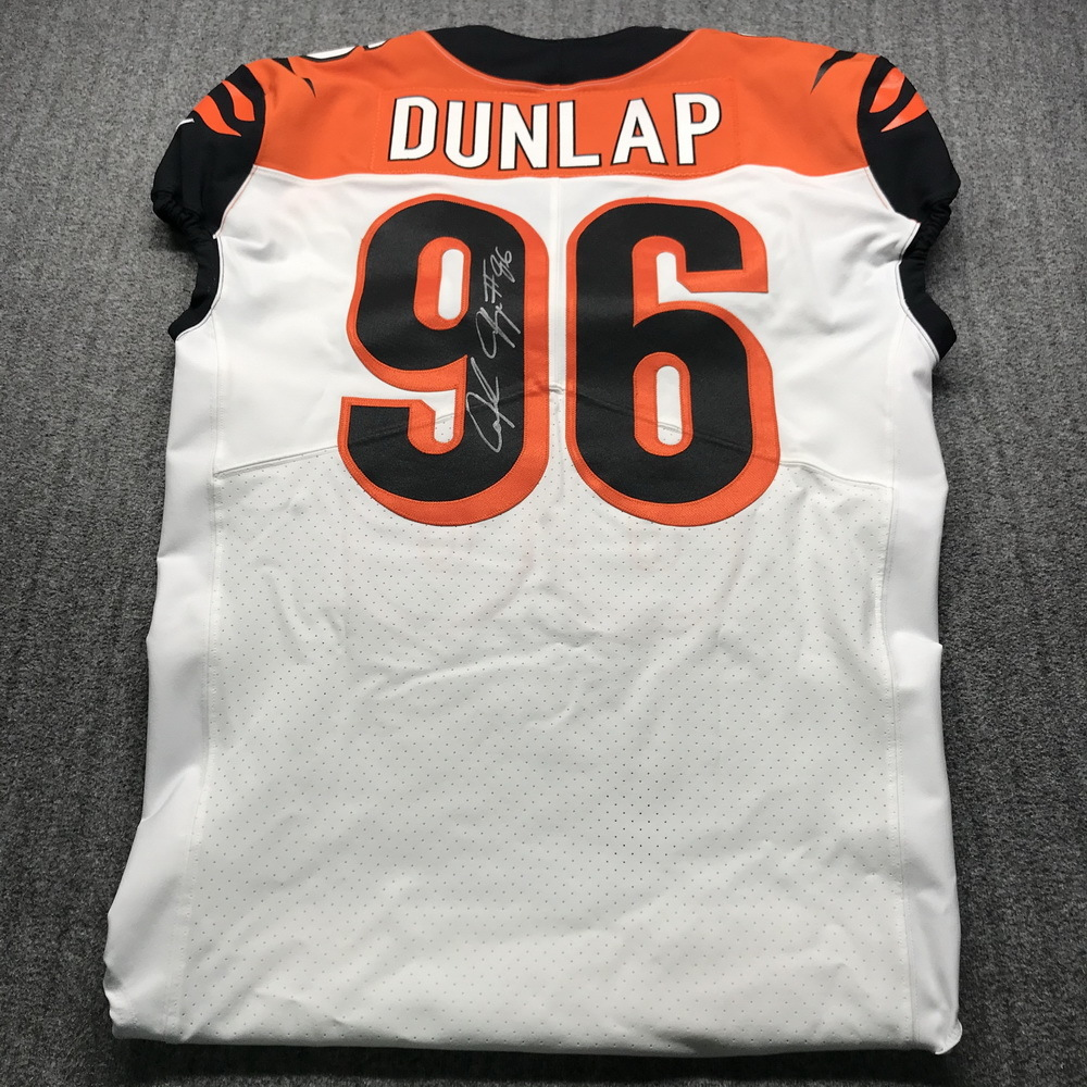 NFL Auction   Crucial Catch - Bengals Carlos Dunlap Signed Game ...