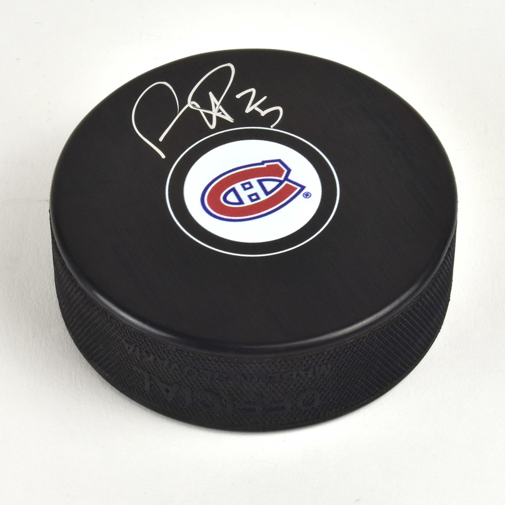 Ryan Poehling Montreal Canadiens Signed Autograph Model Hockey Puck