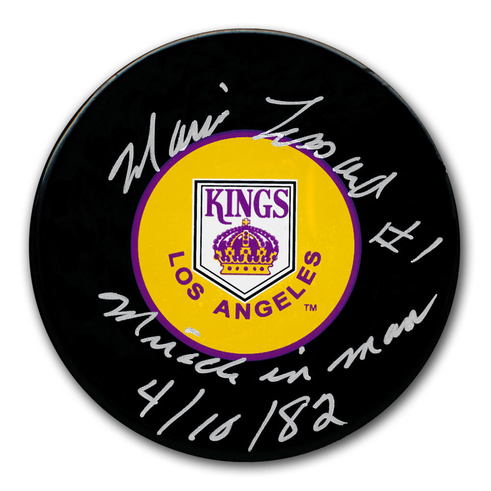 Mario Lessard Los Angeles Kings MIRACLE ON MANCHESTER Autographed Puck