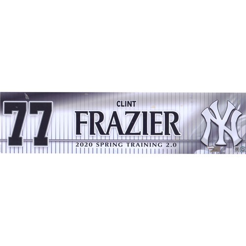 Clint Frazier New York Yankees Team-Issued #77 White Nameplate from Spring Training 2.0 During the 2020 MLB Season
