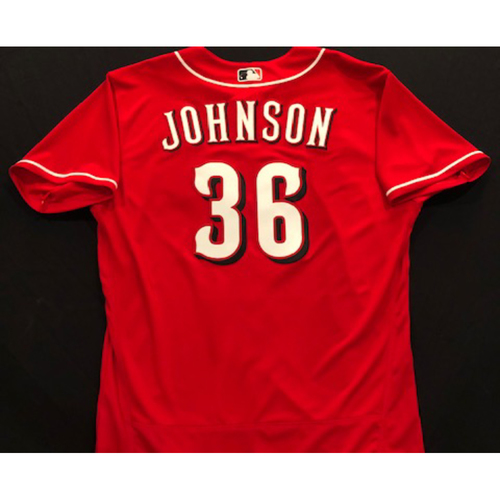 Photo of Derek Johnson -- 2020 Spring Training Jersey -- Team-Issued -- Size 48