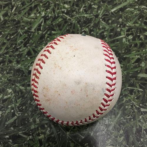 Photo of Game-Used Baseball SD@MIL 05/24/21 - Brandon Woodruff - Jake Cronenworth (Single) & Fernando Tatis Jr (Single)
