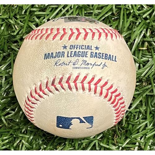 Photo of Game Used Baseball: Yoshitomo Tsutsugo double off Lucas Luetge - Bottom 5 - April 9, 2021 v NYY