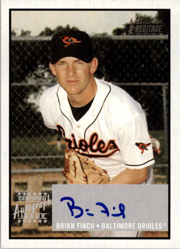 Photo of 2003 Bowman Heritage Signs of Greatness #BF Brian Finch
