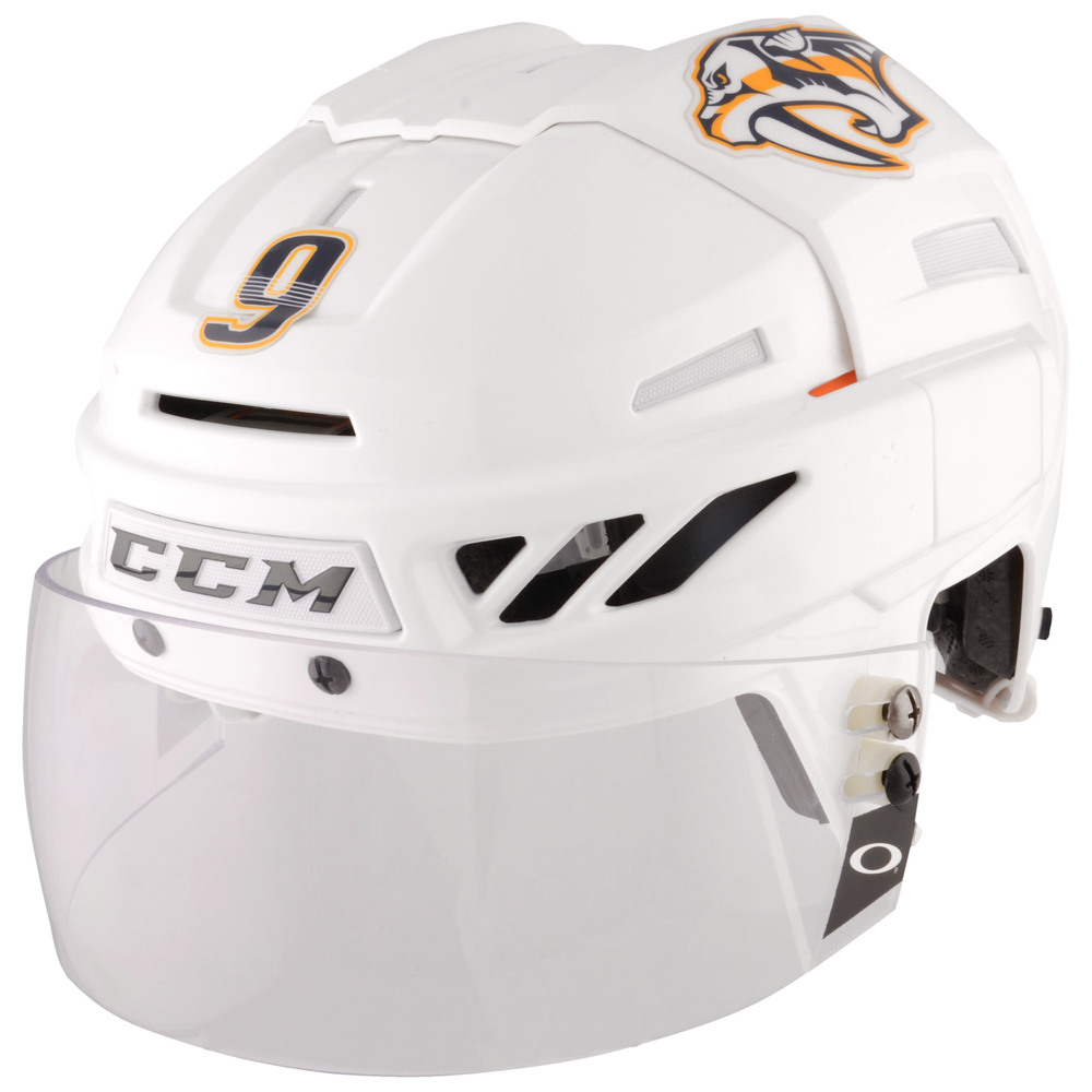 Filip Forsberg Nashville Predators - 2017 Stanley Cup Final Game-Worn White Helmet