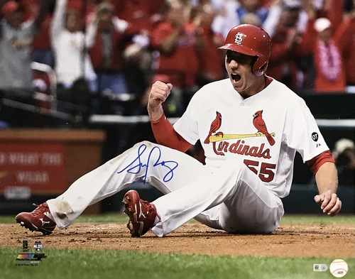 Photo of Stephen Piscotty Autographed 16x20 Photo (Sliding)