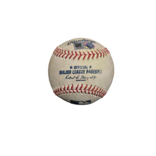 Photo of Game-Used Baseball from Pirates vs. Tigers on 8/8/7 - Boyd to Freese, RBI Single