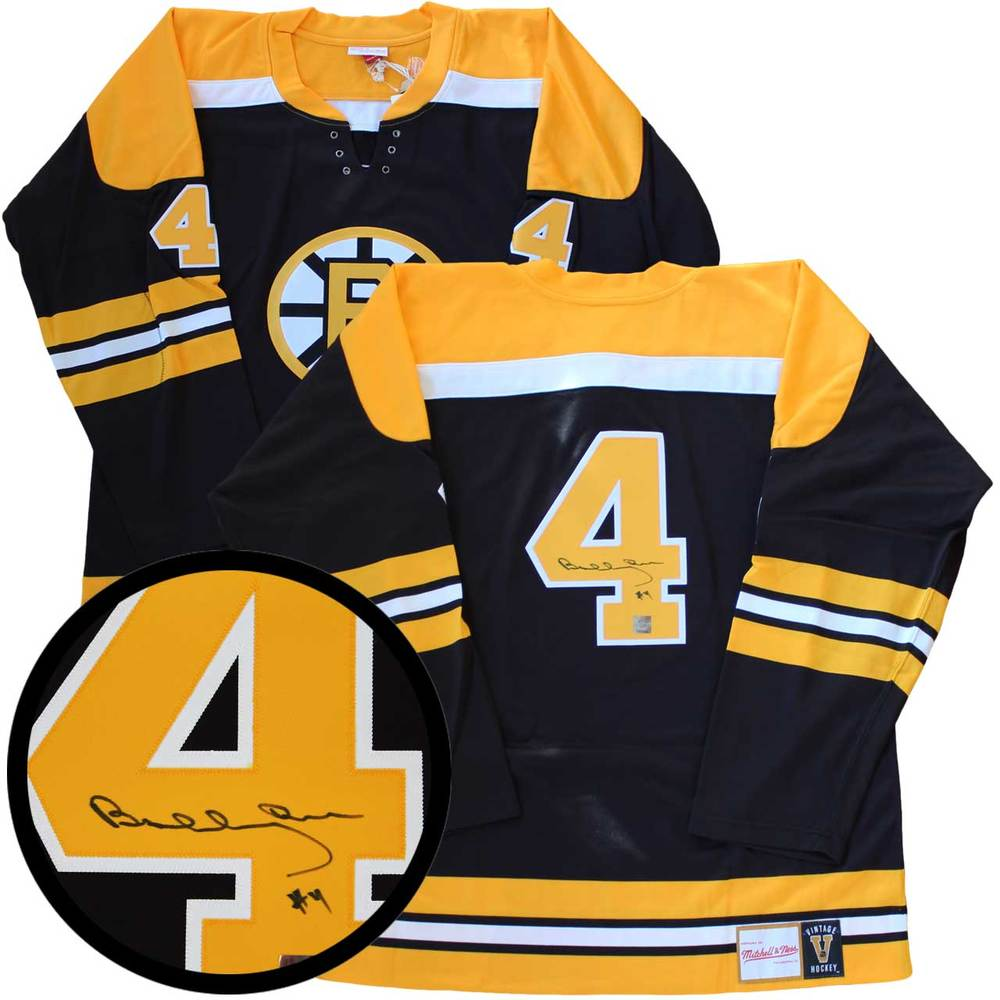Bobby Orr  - Signed Jersey Boston Bruins Mitchell and Ness Replica Dark
