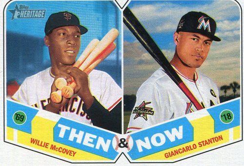 Photo of 2018 Topps Heritage Then and Now #TN8 Giancarlo Stanton/Willie McCovey