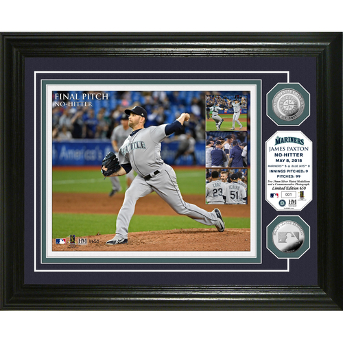 "Photo of James Paxton ""No-Hitter"" Silver Coin Photo Mint"
