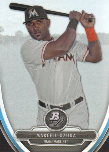Photo of 2013 Bowman Platinum Prospects #BPP90 Marcell Ozuna