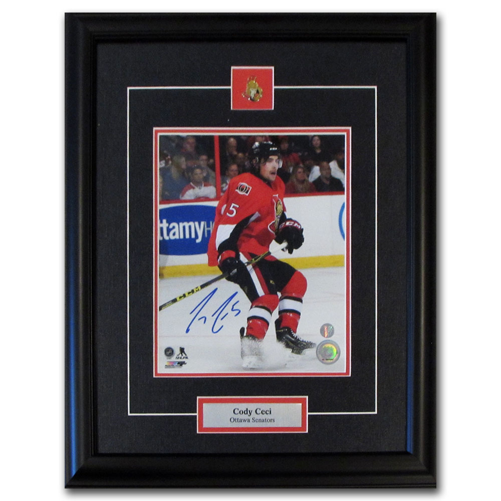 Cody Ceci Autographed Ottawa Senators Framed 8X10 Photo