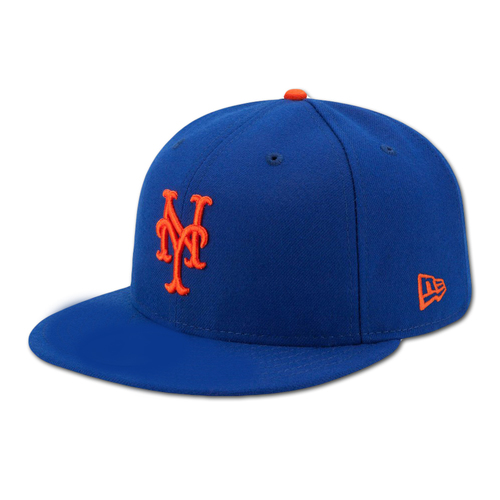 Photo of Dominic Smith #22 - Game Used Blue Home Hat - Worn on 9/29/18 vs. Marlins