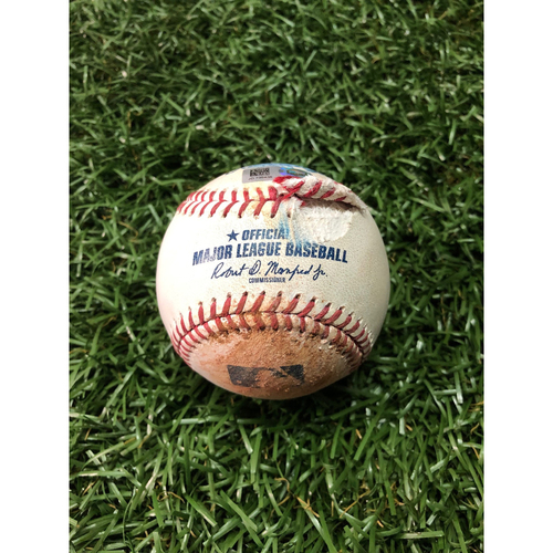 Photo of Game Used Baseball: Kevin Kiermaier fly out, Mike Zunino single and Daniel Robertson foul ball off Merrill Kelly - May 6, 2019 v AZ
