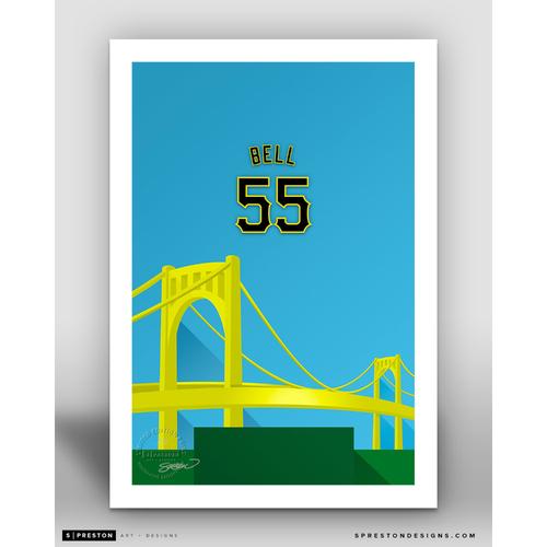 Photo of Minimalist PNC Park Josh Bell Player Series Art Print by S. Preston - Limited Edition