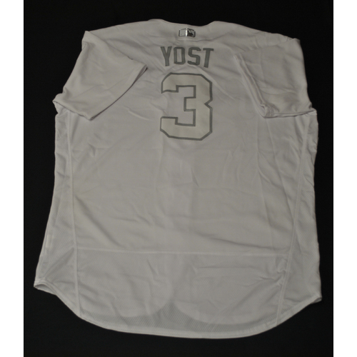 "Photo of Ned ""Yost"" Yost Kansas City Royals Game-Used 2019 Players' Weekend Jersey"