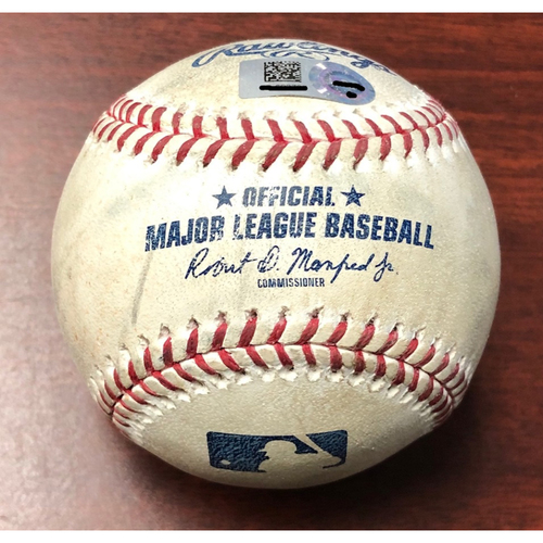 Photo of Opening Day Game Used Baseball: Michael Brantley single off Blake Snell - March 28, 2019 v HOU