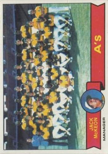 Photo of 1979 Topps #328 Oakland Athletics CL/Jack McKeon MG