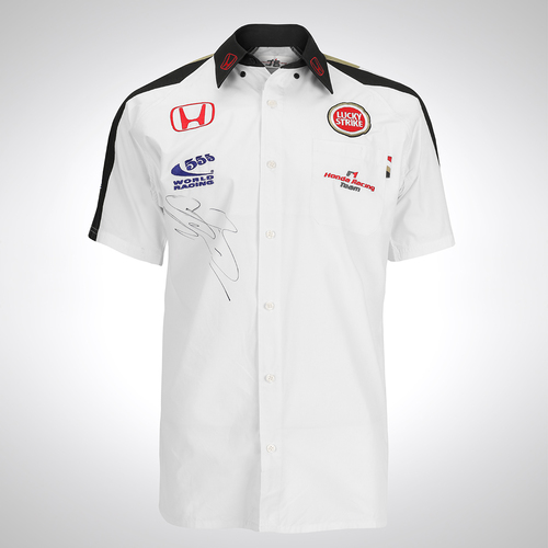 Photo of Lucky Strike BAR Honda Jenson Button Signed Team Shirt