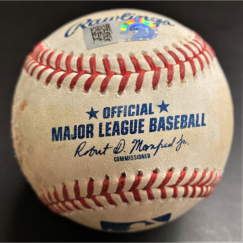 Game-Used Baseball:  Tyler Alexander Detroit Tigers Strikeout #2 from MLB Record Consecutive Strikeout Streak (MLB AUTHENTICATED)