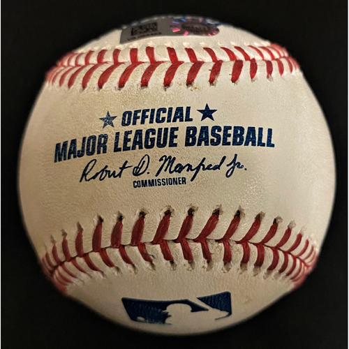 Photo of Game-Used Baseball:  JaCoby Jones Detroit Tigers Hit By Pitch  (MLB AUTHENTICATED)