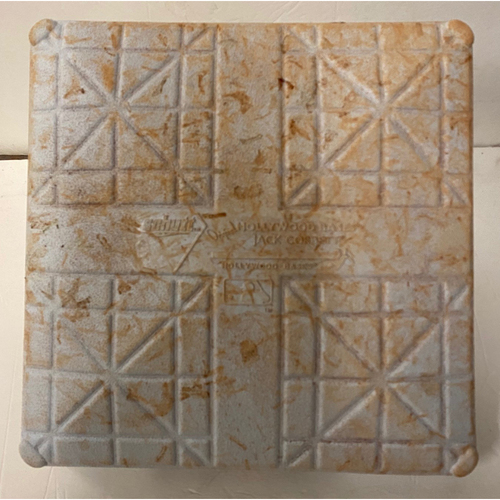 Photo of Braves vs. Dodgers Game Used First Base - Used June 4th, 5th and 6th, 2021 - Freeman Home Run