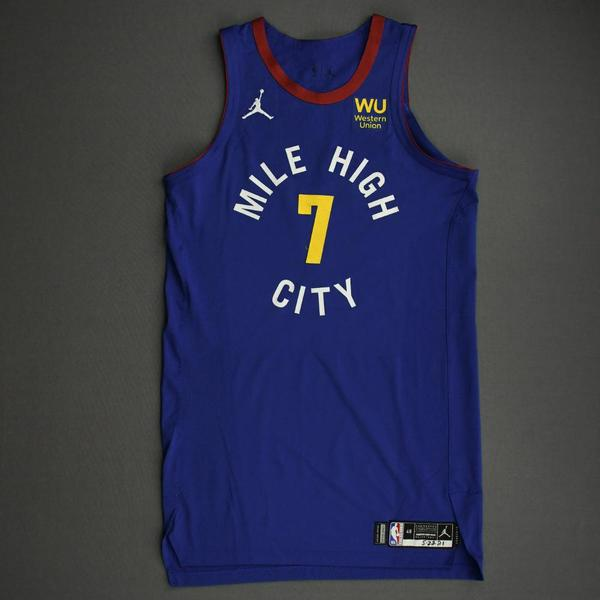 Image of Facundo Campazzo - Denver Nuggets - Game-Worn Statement Edition Jersey - 2021 NBA Playoffs