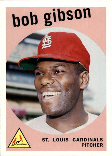 Photo of 2006 Topps Rookie of the Week #19 Bob Gibson -- Hall of Fame Class of 1981