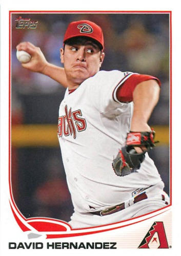 Photo of 2013 Topps #281 David Hernandez -- D'backs post-season